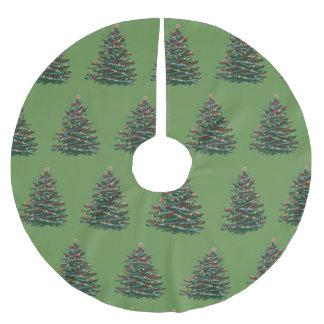Jupon De Sapin En Polyester Brossé Jupe faite sur commande d'arbre de Noël spécial