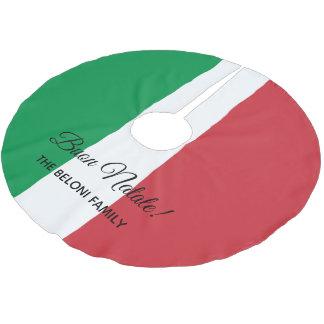 Jupon De Sapin En Polyester Brossé Jupe italienne d'arbre de Noël de drapeau de Buon