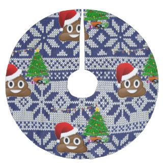 Jupon De Sapin En Polyester Brossé jupe laide d'arbre d'emoji de dunette de chandail
