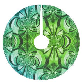 Jupon De Sapin En Polyester Brossé Jupe verte d'arbre d'abrégé sur remous