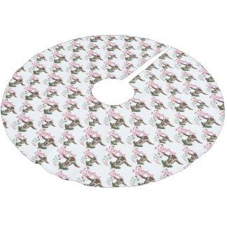 Jupon De Sapin En Polyester Brossé La chèvre de bébé de souhaits de Noël de la CHÈVRE