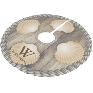 Jupon De Sapin En Polyester Brossé Le blanc en bois de planches de plage de