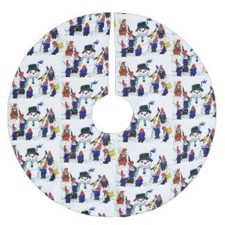 Jupon De Sapin En Polyester Brossé LES GNOMES CONSTRUISENT une jupe d'arbre de