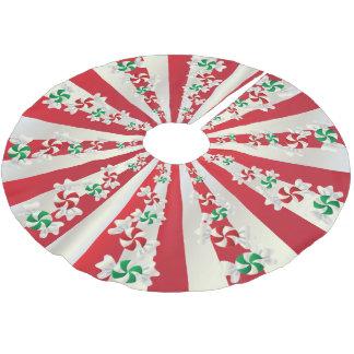 Jupon De Sapin En Polyester Brossé Menthes de sucrerie de Joyeux Noël