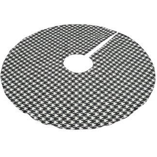 Jupon De Sapin En Polyester Brossé Mini motif de pied-de-poule noir et blanc