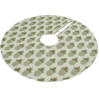 Jupon De Sapin En Polyester Brossé Monogramme kaki du motif | d'ananas