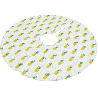 Jupon De Sapin En Polyester Brossé Monogramme tropical d'or des ananas |