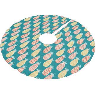 Jupon De Sapin En Polyester Brossé Motif de griffonnage d'ananas