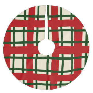 Jupon De Sapin En Polyester Brossé Motif de vacances - croix de criss