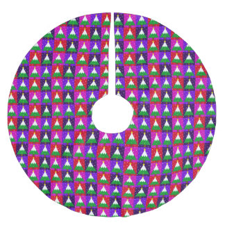 Jupon De Sapin En Polyester Brossé Motif génial d'arbre de Noël