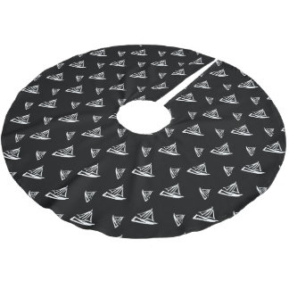 Jupon De Sapin En Polyester Brossé Motif peu précis de voilier