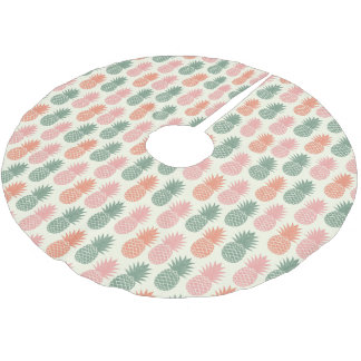 Jupon De Sapin En Polyester Brossé Motif vintage 2 d'ananas