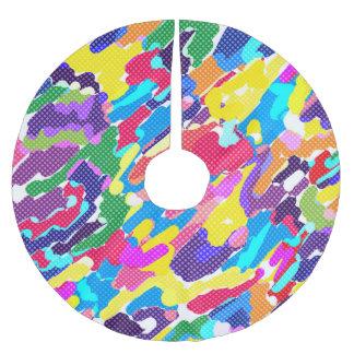 Jupon De Sapin En Polyester Brossé Multicolore lumineux abstrait