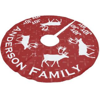 Jupon De Sapin En Polyester Brossé Noël de renne de flèche croisé par tableau