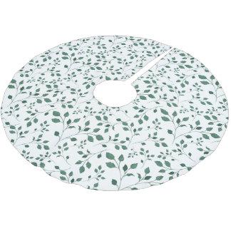 Jupon De Sapin En Polyester Brossé Noël du motif | d'aquarelle de feuille de vert