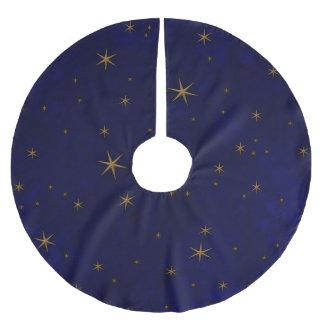Jupon De Sapin En Polyester Brossé Nuit étoilée céleste