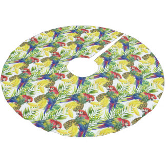 Jupon De Sapin En Polyester Brossé Perroquets et fruit tropical