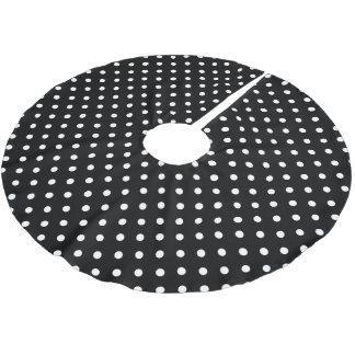 Jupon De Sapin En Polyester Brossé Point de polka noir