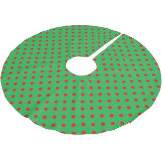 Jupon De Sapin En Polyester Brossé Point de polka vert