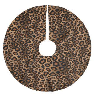Jupon De Sapin En Polyester Brossé Poster de animal de léopard de Brown de Joyeux