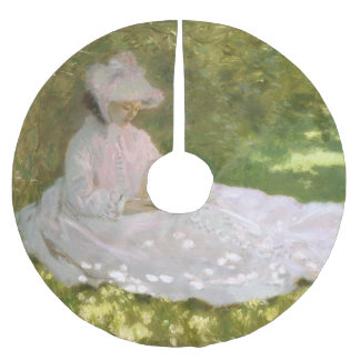 Jupon De Sapin En Polyester Brossé Printemps par Claude Monet