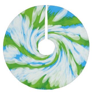Jupon De Sapin En Polyester Brossé Remous vert-bleu super de colorant de cravate