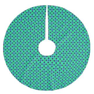 Jupon De Sapin En Polyester Brossé Résumé géométrique bleu pourpre vert