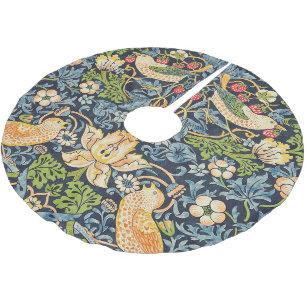 Jupon De Sapin En Polyester Brossé Schéma floral William Morris Strawberry Thief