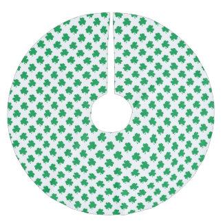 Jupon De Sapin En Polyester Brossé Shamrocks verts sur le trèfle du jour de St