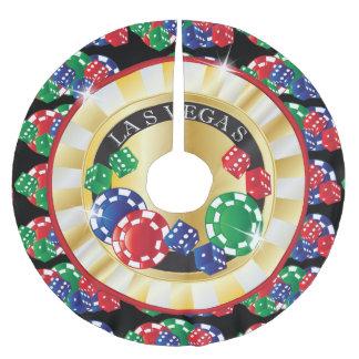 Jupon De Sapin En Polyester Brossé Style de Las Vegas de Noël