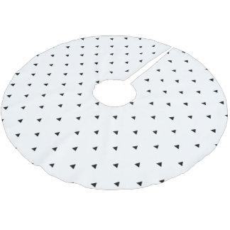 Jupon De Sapin En Polyester Brossé Triangles géométriques blanches noires élégantes
