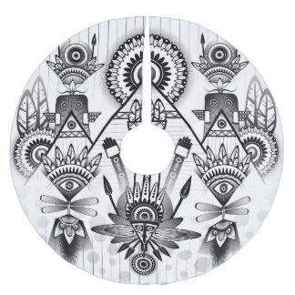 Jupon De Sapin En Polyester Brossé Tribal indien indigène antique abstrait