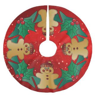 Jupon De Sapin En Polyester Brossé Vacances de Noël de pain d'épice