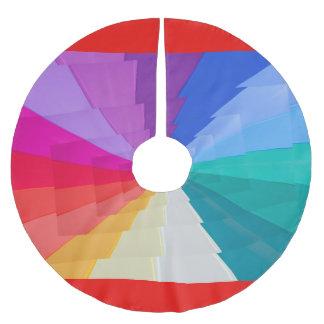 Jupon De Sapin En Polyester Brossé vortex de couleurs sur la jupe d'arbre,