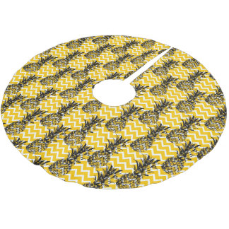 Jupon De Sapin En Polyester Brossé Zigzags d'ananas