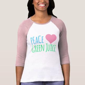 Jus de vert de coeur d'amour de paix t-shirt