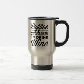 Jusqu'à ce qu'il soit acceptable de boire la tasse