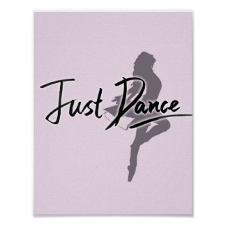 Juste affiche de danse (rose) posters