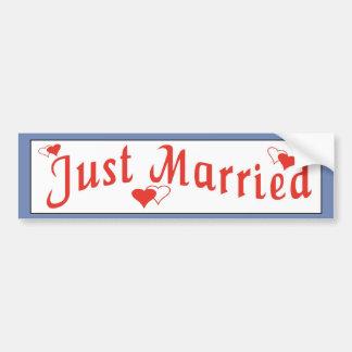 Juste autocollant rouge marié