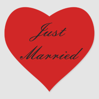 Juste autocollants mariés
