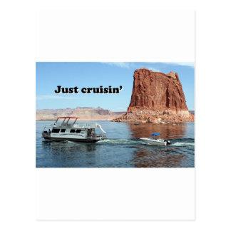 Juste bateau-maison de Powell de lac de cruisin':, Cartes Postales