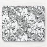 juste blanc noir de chèvres tapis de souris