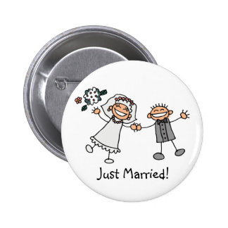 Juste bouton marié badge rond 5 cm