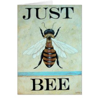 Juste carte d'art d'abeille