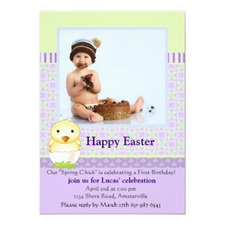 Juste carte de Pâques hachée de photo Carton D'invitation 12,7 Cm X 17,78 Cm