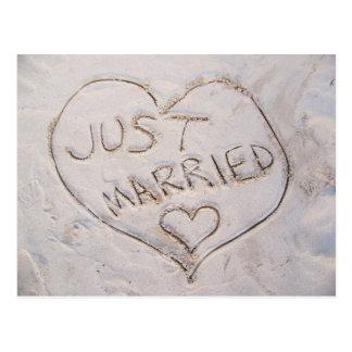 Juste carte postale mariée
