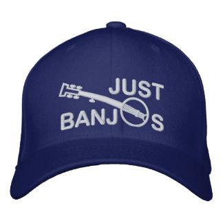 Juste casquette de banjos avec la broderie blanche
