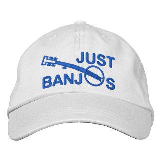 Juste casquette de banjos avec la broderie bleue