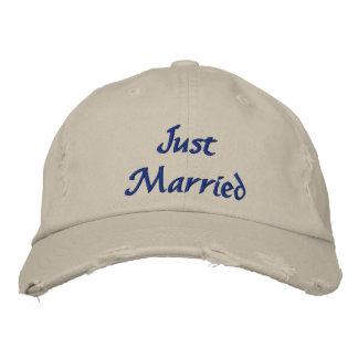 Juste casquette marié casquette brodée
