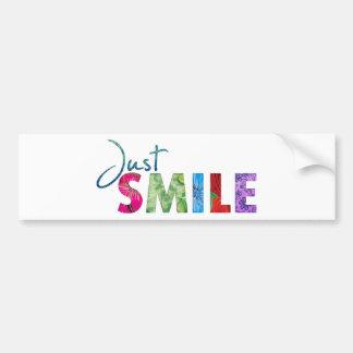 Juste citation heureuse 01 de sourire autocollant de voiture